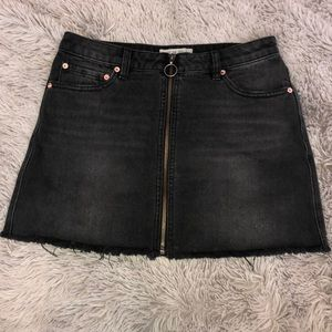 Free People Zip Skirt
